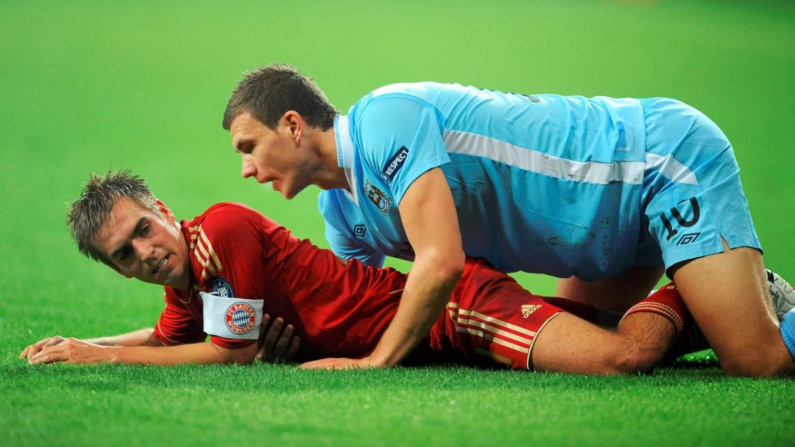 Funny Football Pictures Lahm and Dzeko Wallpaper - HD
